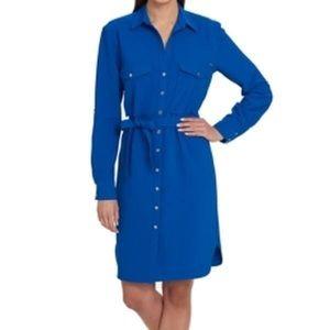 Tommy Hilfiger New Wave Cobalt Belted Dress